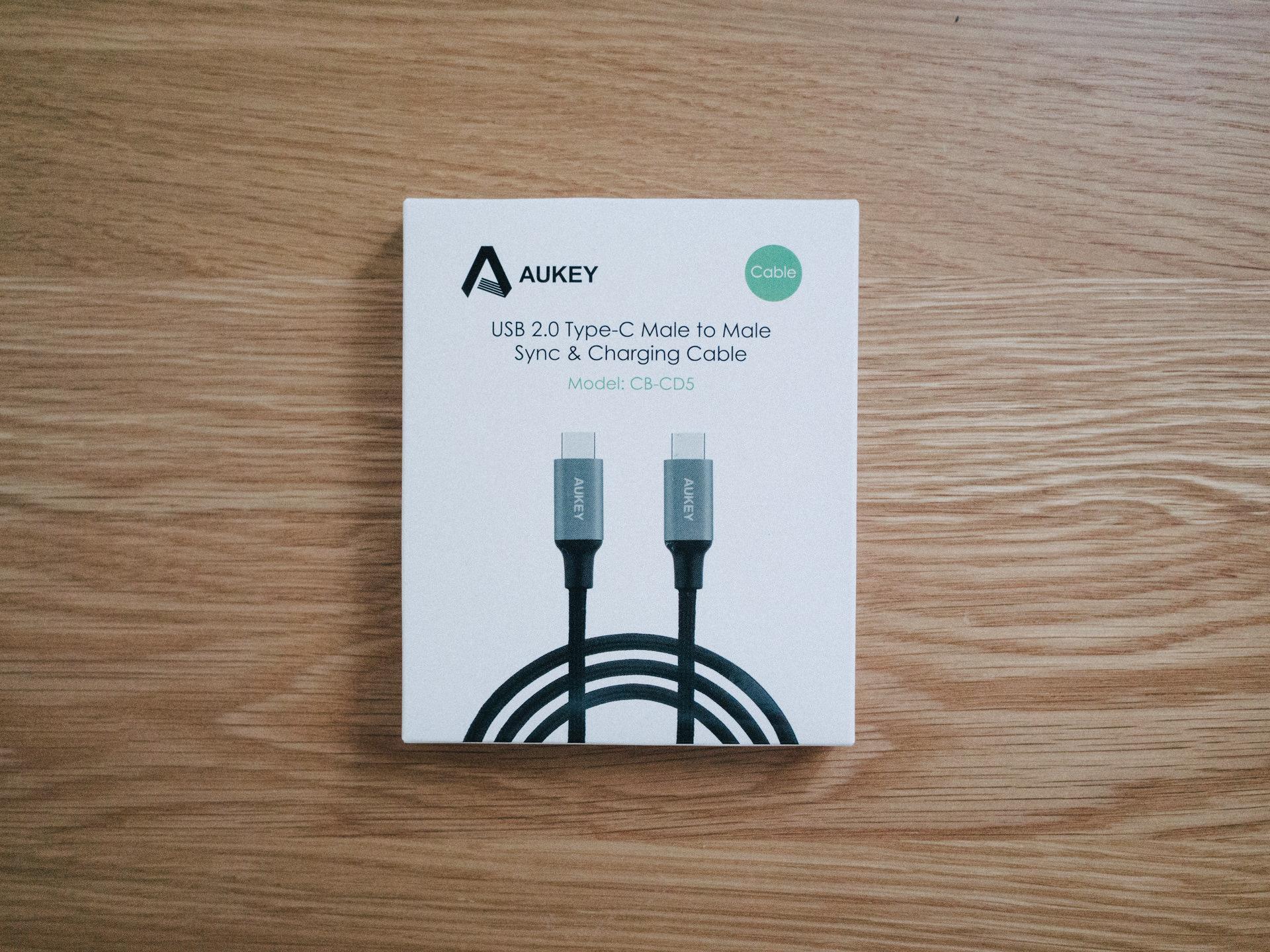 Aukey USB-C to USB-Cケーブルを購入してみた