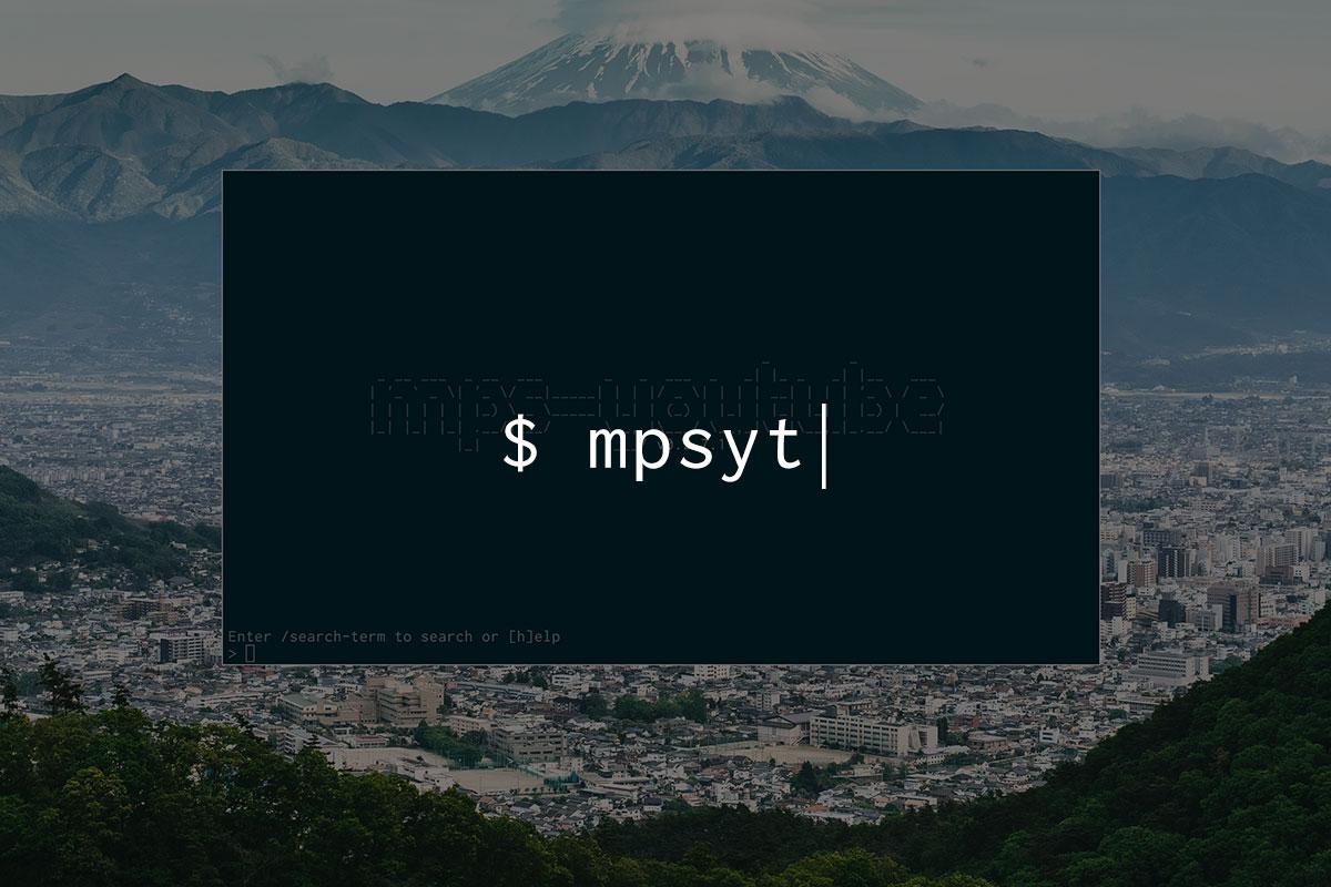 """ターミナルからYoutubeの音楽を聴く""""mps-youtube"""""""