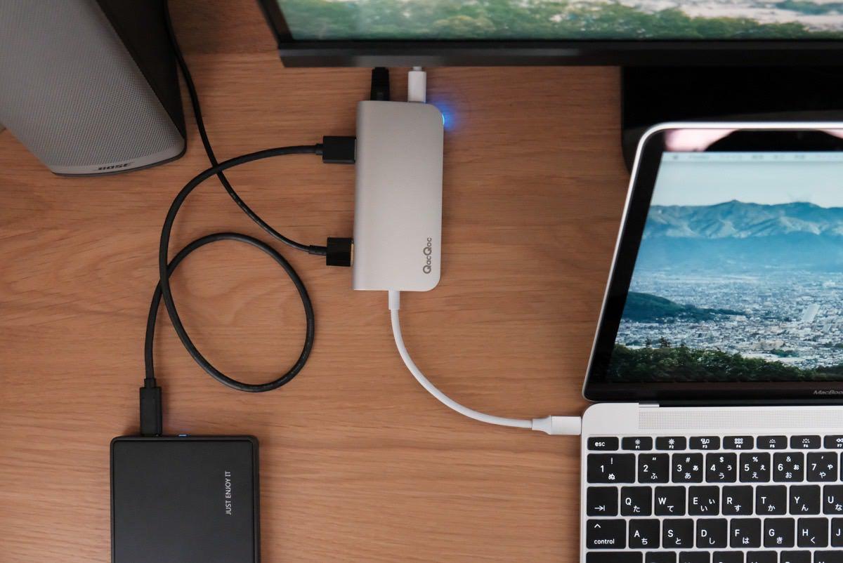 使い勝手抜群!Egolggo QacQoc 8-in-1 USB-Cハブ GN30E を購入