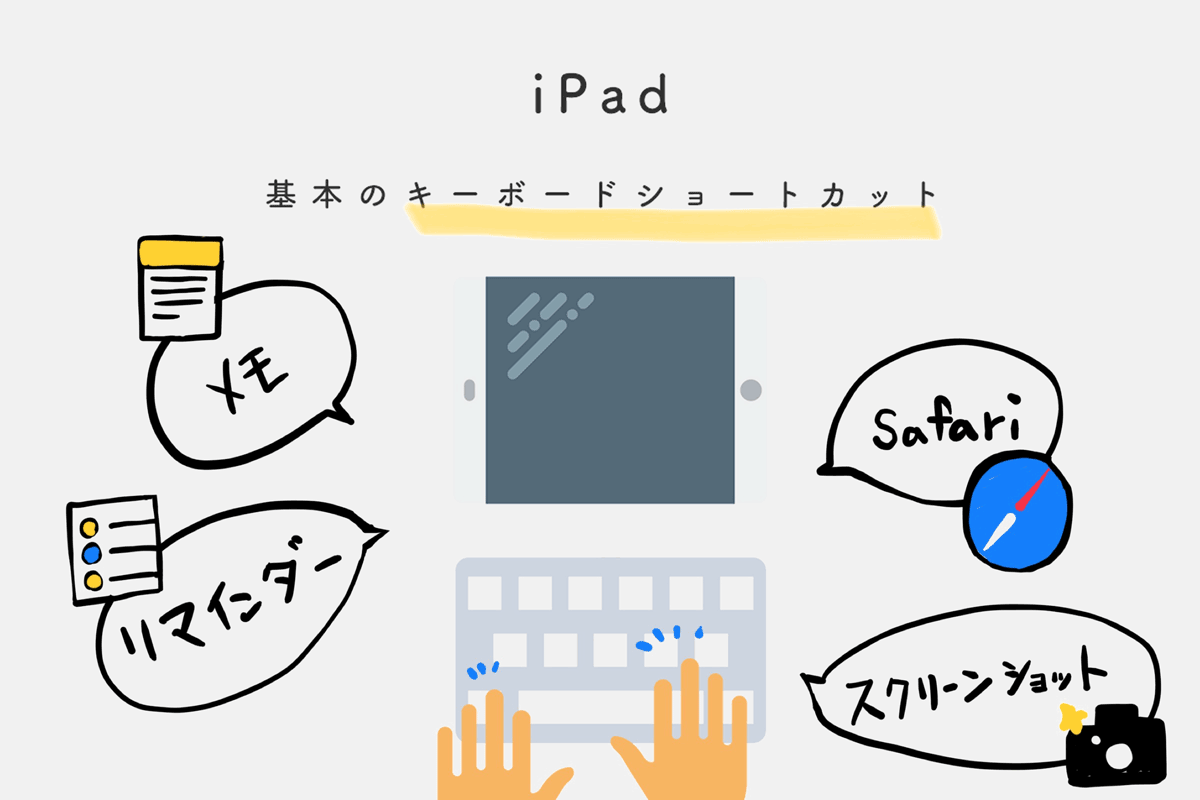 iPadをPCライクに使おう。基本のキーボードショートカットを紹介
