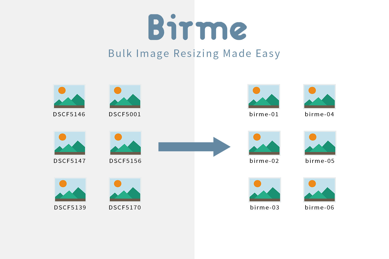 iPhone/iPadでも使えるリサイズ・リネーム Webアプリ「Birme」