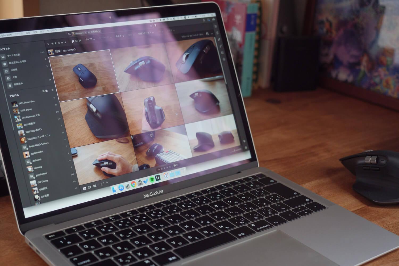 MacBook Air 2018でLightroom CCを動かしている様子