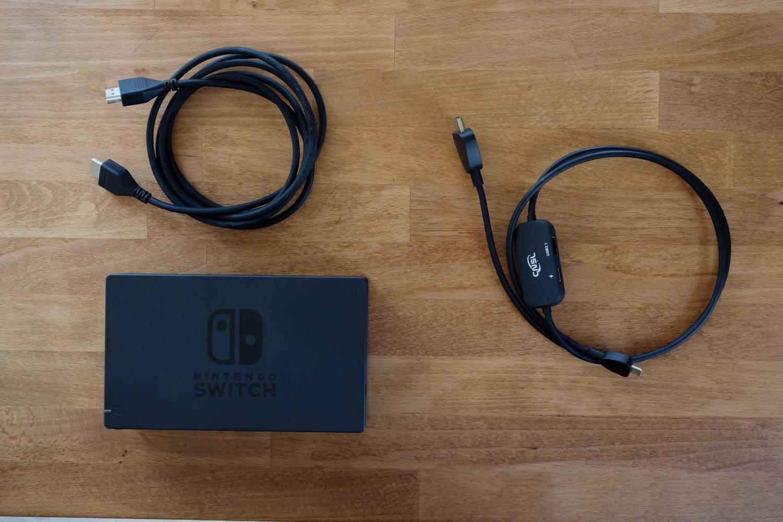 純正SwitchドックとHDMIケーブル 、CNSL ミニドック&交換ケーブル